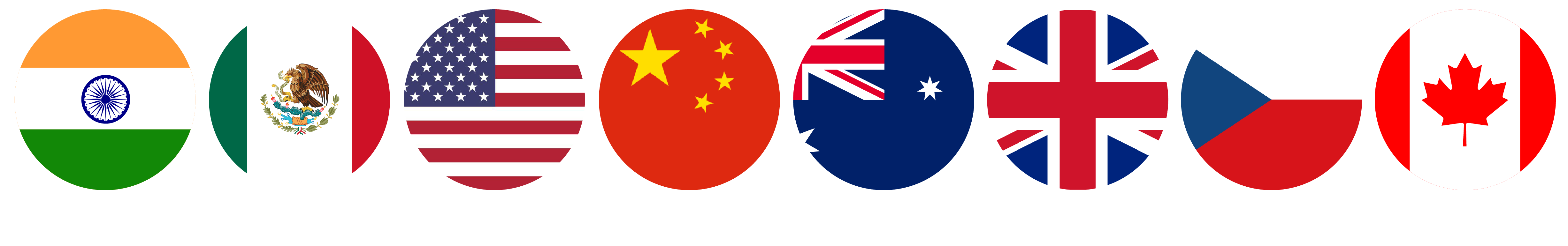 Country Flags of ACM Trade connections